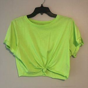 Urban Outfitters x BDG Neon Green Cropped Tee